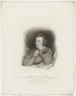 George Colman the Elder, by Edward Scriven, published by  T. Cadell & W. Davies, after  John Jackson, after  Sir Joshua Reynolds - NPG D34046