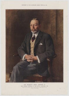 King George V, published by Illustrated London News, after  Sir Oswald Birley - NPG D34020