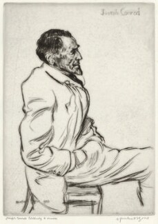 Joseph Conrad listening to music, by Sir Muirhead Bone - NPG D34076