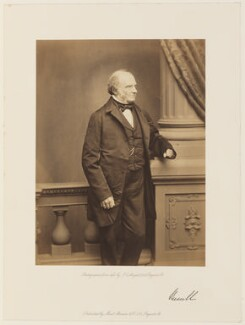John Russell, 1st Earl Russell, by John Jabez Edwin Mayall, published by  A. Marion & Co - NPG Ax7290