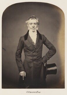 George Grote, probably by Maull & Polyblank, mid-late 1850s - NPG Ax7295 - © National Portrait Gallery, London