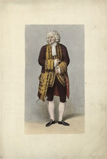 George Frederick Cooke as Sir Archy MacSarcasm in 'Love à la Mode' by Charles Macklin, by Richard Woodman, published by  John Cawthorn, after  Samuel De Wilde - NPG D34091