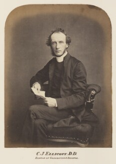 Charles John Ellicott, probably by Maull & Polyblank, mid-late 1850s - NPG Ax7317 - © National Portrait Gallery, London