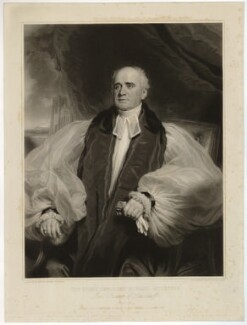 Edward Copleston, by Samuel Cousins, published by  Paul and Dominic Colnaghi & Co, after  Sir Martin Archer Shee - NPG D34110