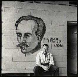 'Mural of the poet José Martí' (Ida's government driver), by Ida Kar - NPG x132344
