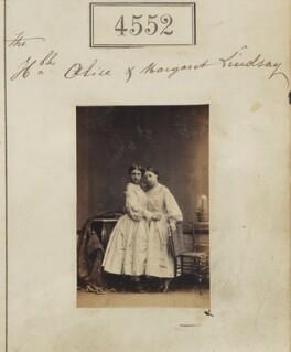 Lady Alice Frances Archer-Houblon (née Lindsay); Lady Margaret Elizabeth Majendie (née Lindsay), by Camille Silvy - NPG Ax54564