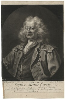 Thomas Coram, by James Macardell, after  William Hogarth, 1749 (1740) - NPG D34126 - © National Portrait Gallery, London