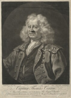 Thomas Coram, by James Macardell, after  William Hogarth, 1749 (1740) - NPG D34127 - © National Portrait Gallery, London