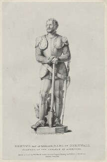 Edmund of Almain, 2nd Earl of Cornwall, by Richard James Lane, after  Henry Corbould, after  Sir Richard Westmacott - NPG D34131