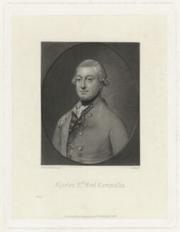 Charles Cornwallis, 1st Marquess Cornwallis, by James Scott, after  Thomas Gainsborough, published 1874 - NPG D34144 - © National Portrait Gallery, London