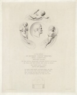 Mural monument to Richard Cosway, by Charles Picart, after  Richard Westmacott - NPG D34152