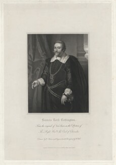 Francis Cottington, 1st Baron Cottington, by William Holl Sr, after  William Haines, after  Paul van Somer - NPG D34158