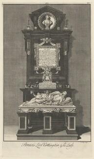 Monument to Francis Cottington, 1st Baron Cottington and Anne Cottington (née Meredith), Lady Cottington, by James Cole - NPG D34159