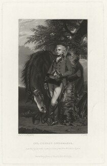 George Kein Hayward Coussmaker, by James Scott, published by  Henry Graves, after  Sir Joshua Reynolds - NPG D34172