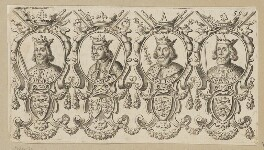 King William I ('The Conqueror'); King William II ('Rufus'); King Henry I; King Stephen, after Unknown artist, published 1677 - NPG D34135 - © National Portrait Gallery, London
