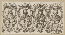 King Edward I; King Edward II; King Edward III; King Richard II, after Unknown artist, published 1677 - NPG D34137 - © National Portrait Gallery, London