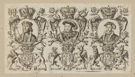 King Henry VII; King Henry VIII; King Edward VI, after Unknown artist, published 1677 - NPG D34139 - © National Portrait Gallery, London