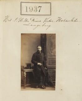 Count Gleichen, by Camille Silvy - NPG Ax51327