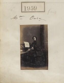 Anna Caroline Oury (née de Belleville), by Camille Silvy - NPG Ax51349