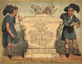 A Scotch Sarcophagus, by Thomas Rowlandson - NPG D9332