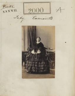 Madeline Honorine (née Dobrowolska), Viscountess Exmouth, by Camille Silvy, 31 January 1861 - NPG Ax51390 - © National Portrait Gallery, London