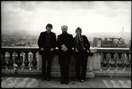 Christopher Hitchens; James Martin Fenton; Martin Amis, by Angela Gorgas - NPG x133006