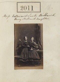 Katherine Henrietta Venezia Grey (née Milbank); Louisa Elizabeth Jane Arkwright (née Milbank), by Camille Silvy, 1 February 1861 - NPG Ax51401 - © National Portrait Gallery, London