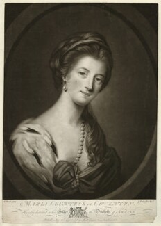 Maria (née Gunning), Countess of Coventry, by John Finlayson, after  Katharine Read - NPG D34186
