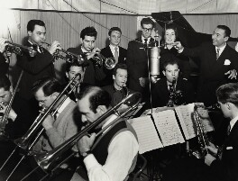 Joe Loss with members of his orchestra, by Harry Hammond, 1952 - NPG x132380 - © Harry Hammond / Victoria & Albert Museum