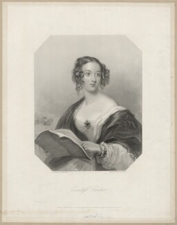 Anne Florence (née de Grey), Countess Cowper, by William Henry Mote, after  John Hayter - NPG D34199