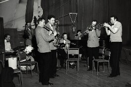 'The Humphrey Lyttelton Band', by Harry Hammond, 1954 - NPG x132381 - © Harry Hammond / Victoria & Albert Museum