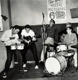 Cliff Richard and The Shadows' (Sir Cliff Richard; Bruce Welch; Hank Marvin; Jet Harris; Tony Meehan), by Harry Hammond - NPG x15552