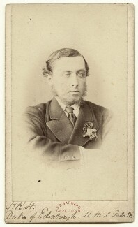 Prince Alfred, Duke of Edinburgh and Saxe-Coburg and Gotha, by Samuel Baylis Barnard - NPG x39707