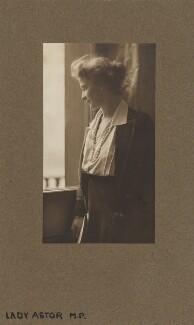 Nancy Astor, Viscountess Astor, by (Mary) Olive Edis (Mrs Galsworthy), 1920 - NPG x339 - © National Portrait Gallery, London