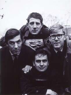 Peter Edward Cook; Jonathan Miller; Dudley Moore; Alan Bennett, by Lewis Morley, 1961 - NPG x32732 - © Lewis Morley Archive / National Portrait Gallery, London