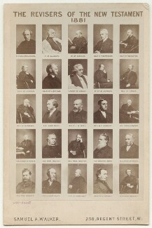 'The Revisers of the New Testament 1881', by and after Samuel Alexander Walker, 1881 (early-mid 1870s) - NPG x132403 - © National Portrait Gallery, London