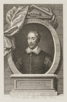 Edmund Spenser, by George Vertue - NPG D9355