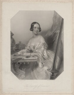 Emily Mary (née Grimston), Countess of Craven, by William Holl Jr, and by  Francis Holl, after  John Hayter - NPG D34225