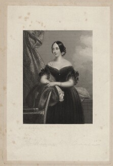 Emily Mary (née Grimston), Countess of Craven, by William Henry Mote, after  Claude-Marie Dubufe - NPG D34226