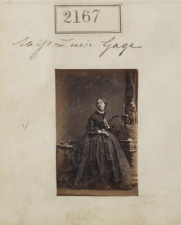 Lucy Gage, by Camille Silvy - NPG Ax51555