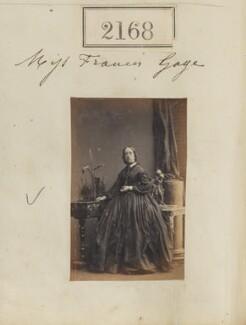 Fanny Gage, by Camille Silvy - NPG Ax51556