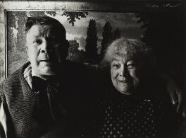 Camille Bombois with his wife Eugénie Christophe, by Ida Kar, 1954 - NPG x132415 - © National Portrait Gallery, London