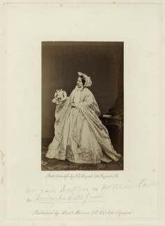 Mrs Frank Matthews as Mrs Colonel Carver in 'Woodcock's Little Game', by John Jabez Edwin Mayall, published by  A. Marion & Co - NPG x132419