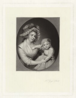 Mrs Gage & Child, by James Scott, published by  Henry Graves & Co, after  Thomas Gainsborough - NPG D34261