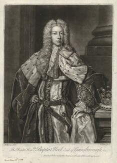 Baptist Noel, 4th Earl of Gainsborough, by and published by John Faber Jr, after  Hans Hysing - NPG D34262
