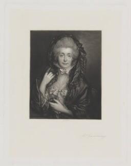Margaret Gainsborough (née Burr), by James Scott, published by  Henry Graves & Co, after  Thomas Gainsborough - NPG D34263