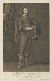 Arthur Goodwin, by Pieter Stevens van Gunst, after  Sir Anthony van Dyck - NPG D34291