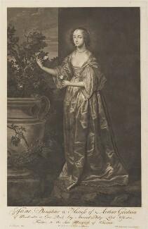 Jane Wharton (née Goodwin), Lady Wharton, by Pieter Stevens van Gunst, after  Sir Anthony van Dyck - NPG D34292