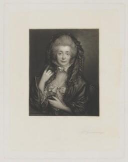 Margaret Gainsborough (née Burr), by James Scott, published by  Henry Graves & Co, after  Thomas Gainsborough - NPG D34264