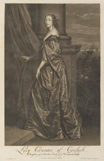 Lucy Hay (née Percy), Countess of Carlisle, by Pieter Stevens van Gunst, after  Sir Anthony van Dyck - NPG D34293